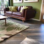 the tree house wooden floor leather sof